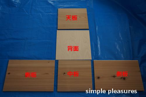収納棚の作り方:材料