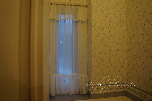 小窓スリット窓用フリルレースカーテン 作り方