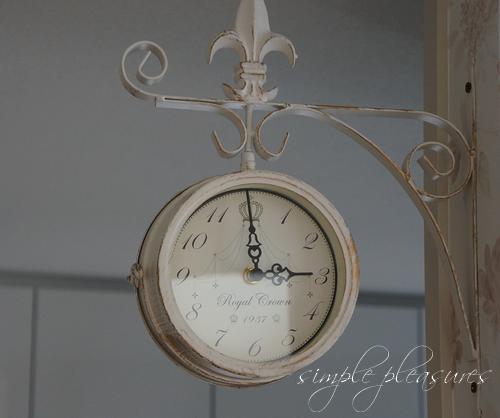 フレンチアンティーク風両面時計