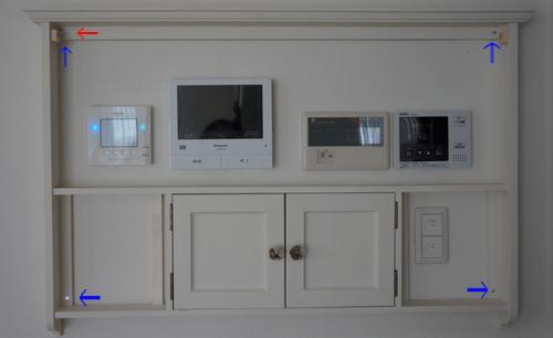 インターホンカバー 壁に取り付ける ビス留め カーテンポールフック DIY