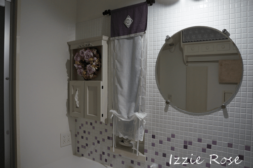 洗面所 タイル壁に飾り棚を取り付ける方法