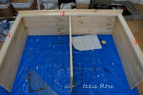 フレンチ家具 チェストの作り方:枠を組み立てる