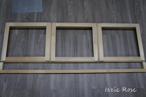 室内用木製エアコンカバーDIY作り方:木枠を組む
