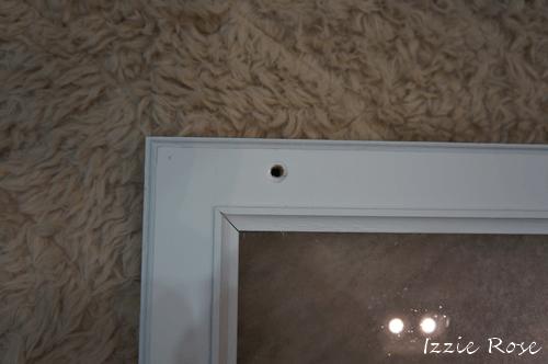 室内用木製エアコンカバーDIY作り方:蝶ボルト用の穴をあける