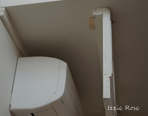 室内用木製エアコンカバーDIY作り方:横から