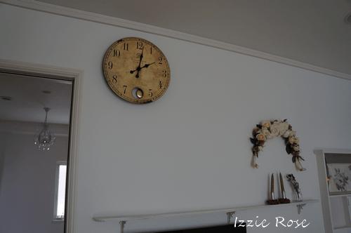フレンチシャビー 壁掛け時計