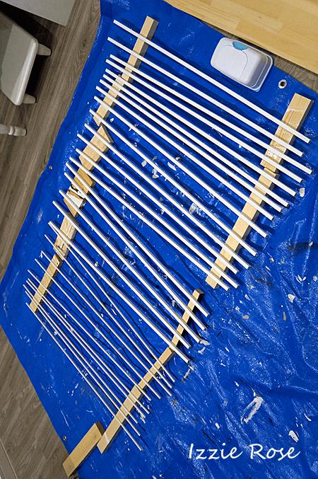 窓枠DIY ペンキを塗る