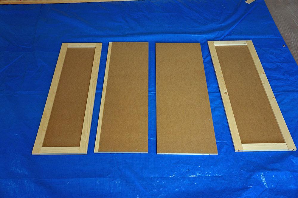 フレンチテイストな棚をDIYで作る方法 上段の板を作る