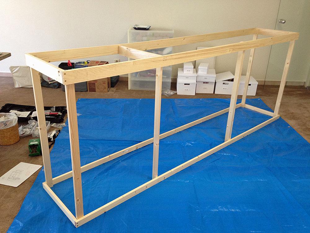 フレンチテイストな棚をDIYで作る方法 枠を作る2