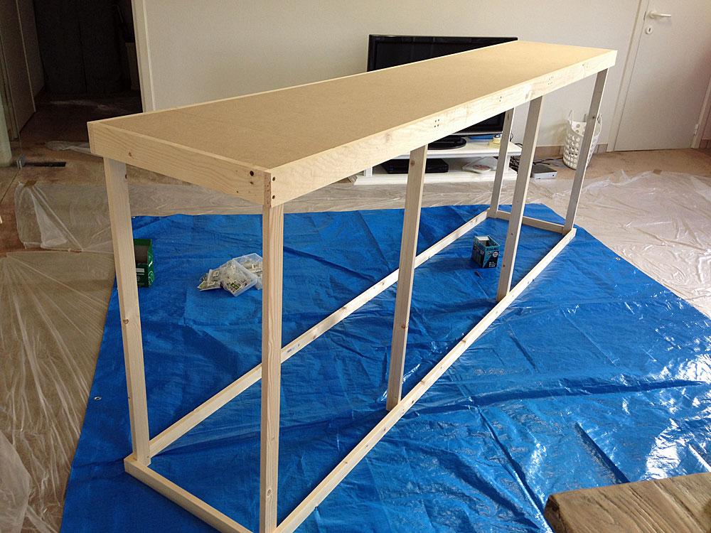 フレンチテイストな棚をDIYで作る方法 天板を取り付ける