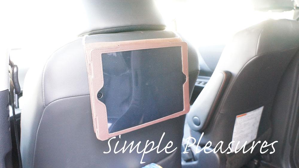 子供用に後部座席のタブレット車載ホルダーを激安自作する方法