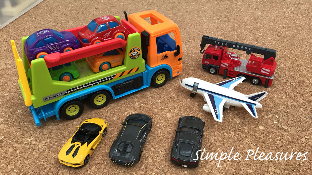 2歳男児 室内遊び ダイソー 車や飛行機 カーキャリア おもちゃ