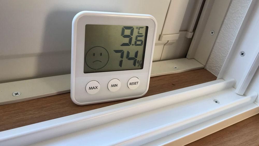 二重窓の防寒効果-内窓なし