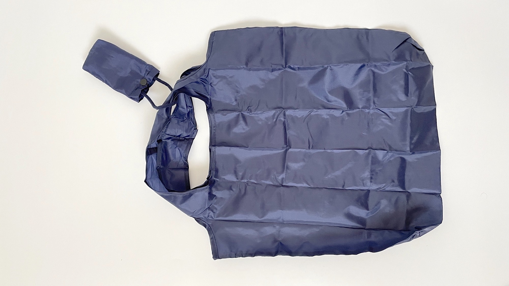 エコバッグの持ち手に袋を縫いつけたーエコバッグをたためない!イライラを解消するアレンジ方法